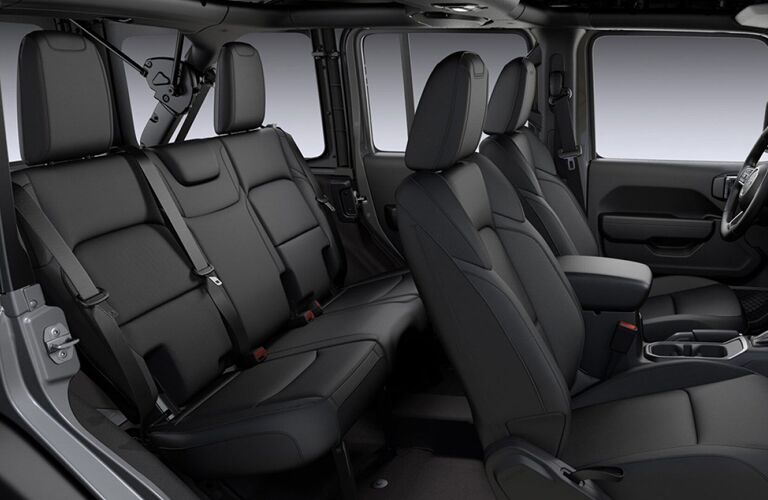 2020 Jeep Wrangler Unlimited five-passenger cabin