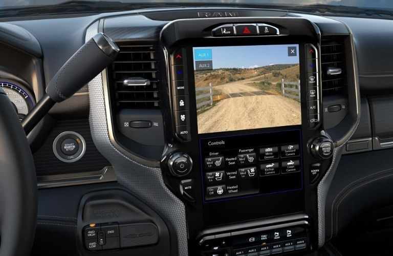 2020 Ram 2500 12-inch display with split screen