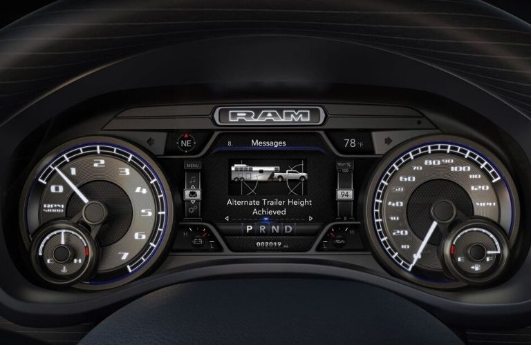 2020 Ram 2500 instrument cluster display
