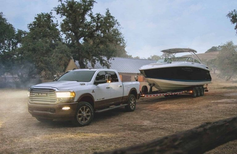 2020 Ram 2500 towing a boat