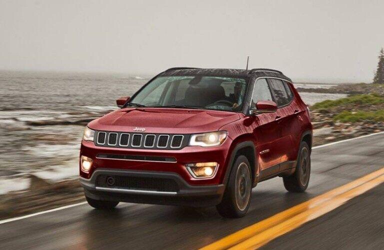 2021 Jeep Compass on coastal road