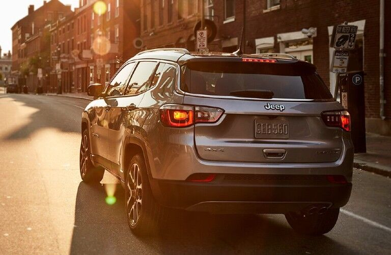 2021 Jeep Compass on city street
