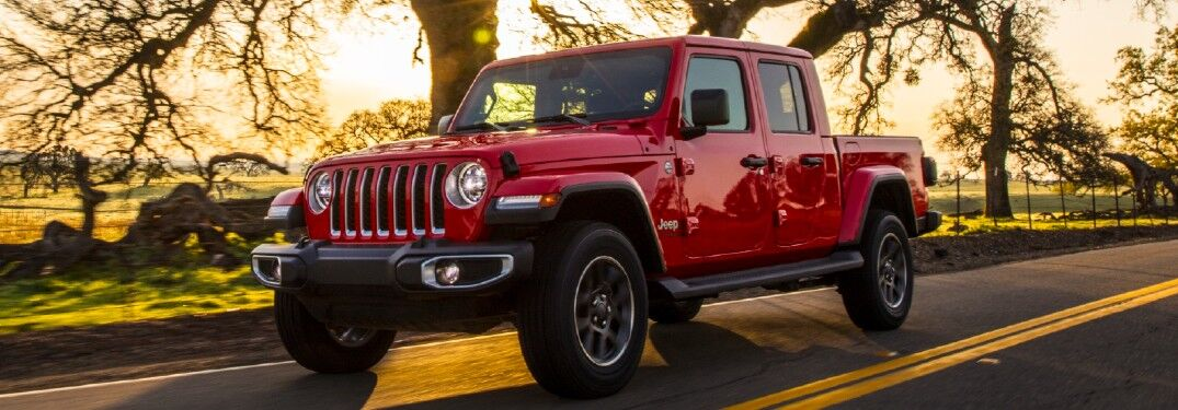 2021 Jeep Gladiator on sunny patch of road