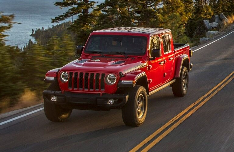 2021 Jeep Gladiator on coastal road