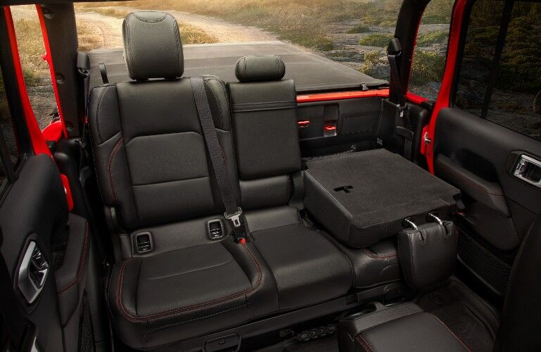 2021 Jeep Gladiator interior space rear seats