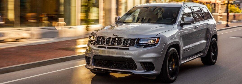 2021 Jeep Grand Cherokee on city street