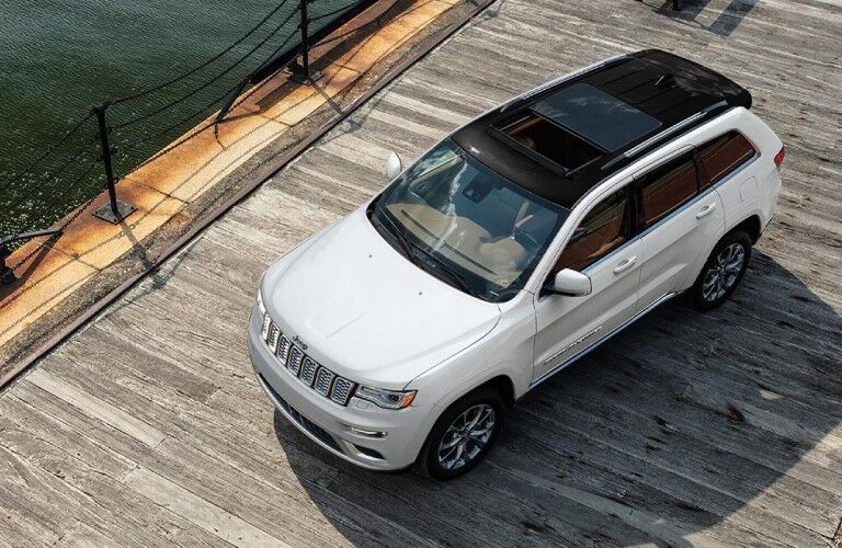 2021 Jeep Grand Cherokee on boardwalk viewed from above