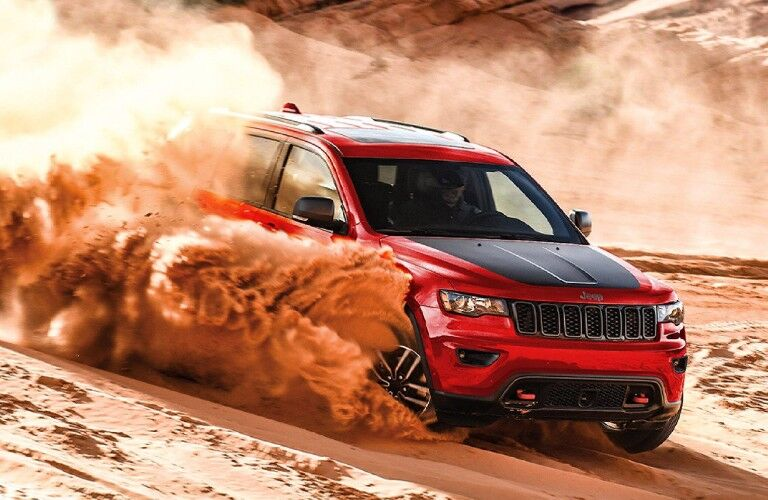 2021 Jeep Grand Cherokee Trailhawk on sand dune