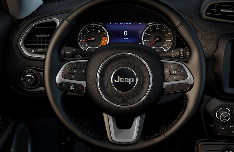 2021 Jeep Renegade steering wheel and instrument cluster