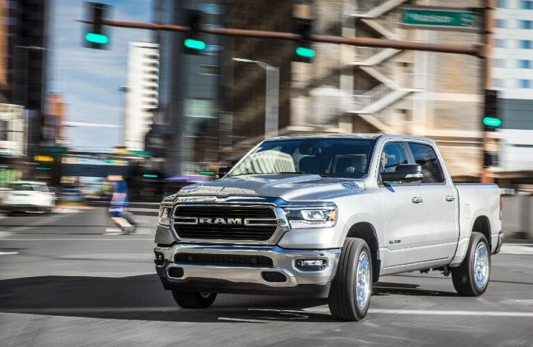 2021 RAM 1500 in city intersection