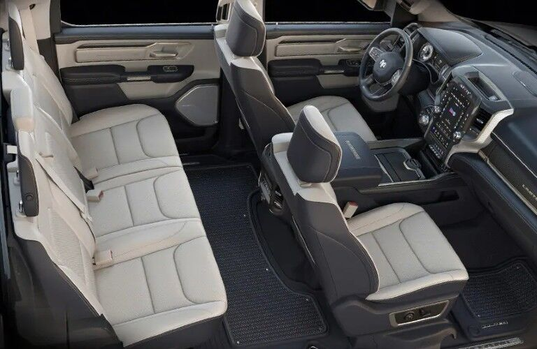 2021 RAM 1500 interior front and rear seats