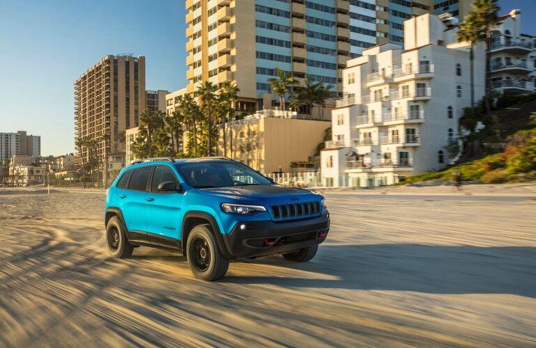 2021 Jeep Cherokee on beach