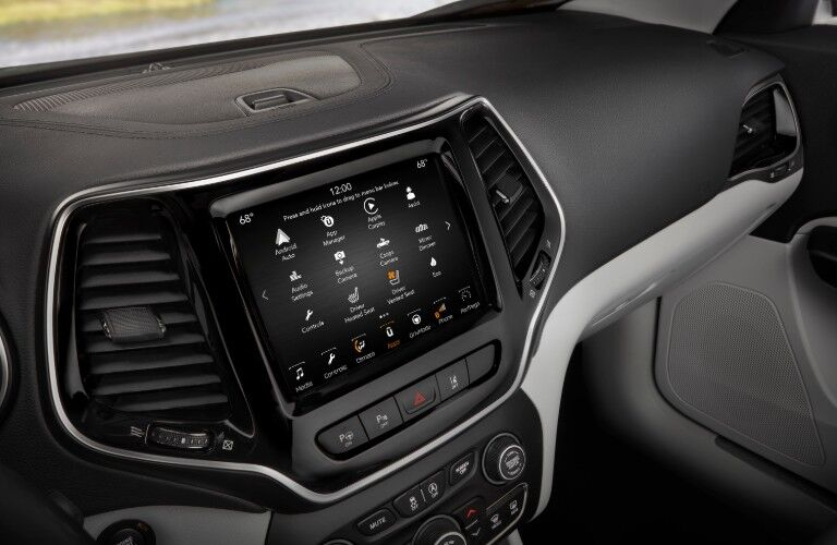 Infotainment display in 2021 Jeep Cherokee