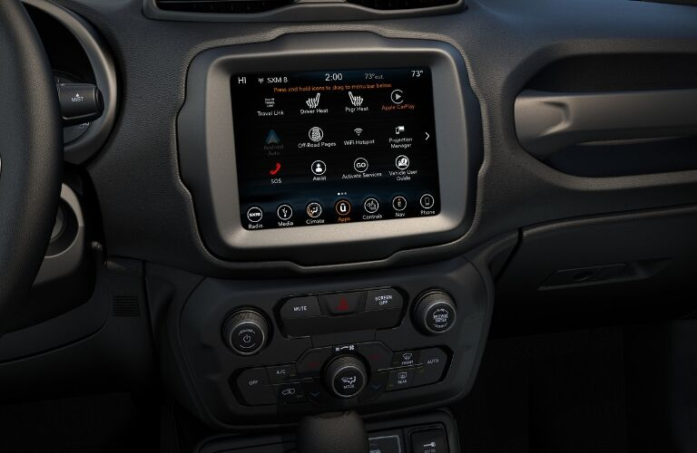 Infotainment center in 2019 Jeep Renegade