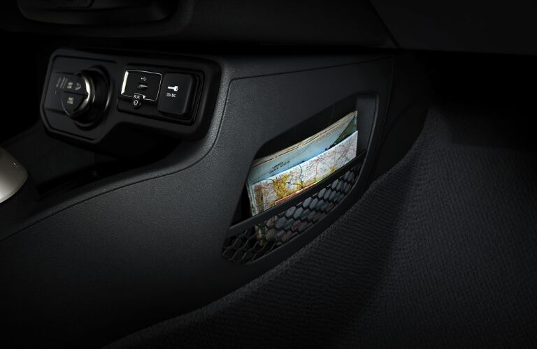 Side pocket with maps in 2019 Jeep Renegade