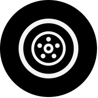 black wheel icon