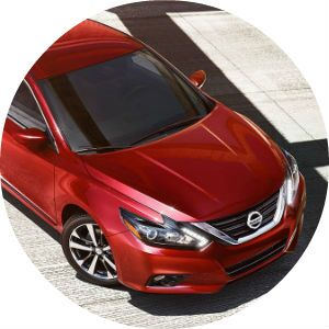 red 2017 Nissan Altima front end design
