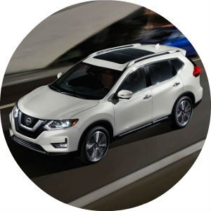 white 2017 Nissan Rogue side view