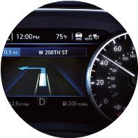 murano advanced drive assist display