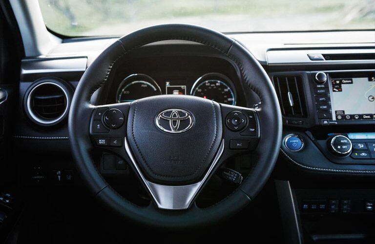 2016 Toyota RAV4 Hybrid Steering Wheel and Toyota Entune