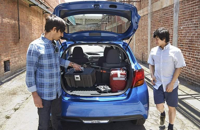 2016 Toyota Yaris cargo space