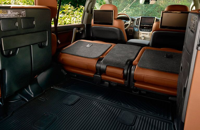 Cargo space with folded third row seats