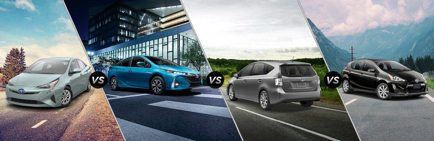 2017 Toyota Prius vs Prius Prime vs Prius v vs Prius c