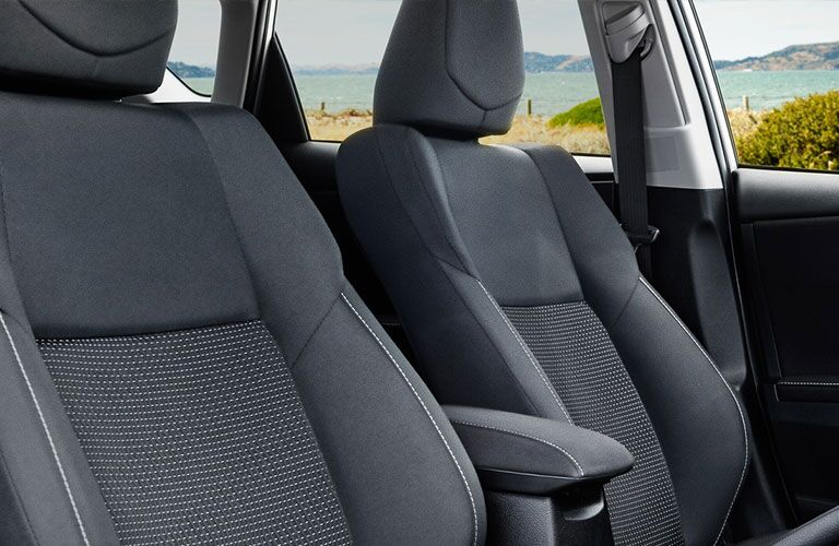 2018 Toyota Corolla iM front seats and upholstery