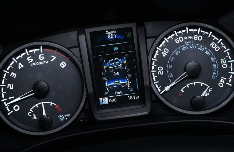 2018 Toyota Tacoma driver gauges