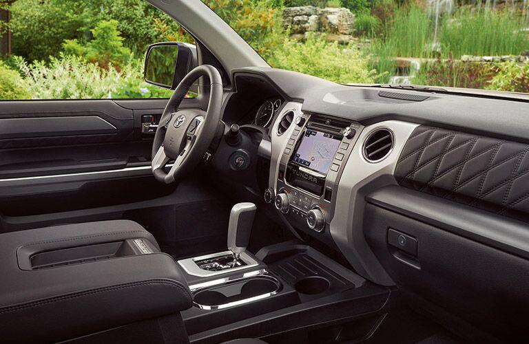 2019 Toyota Tundra steering wheel and dashboard
