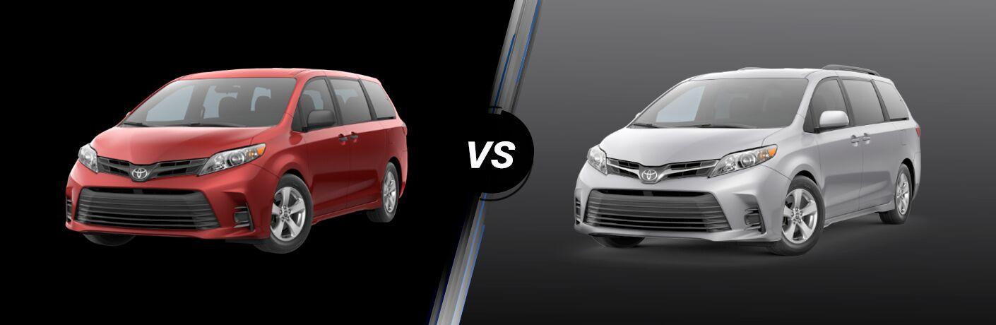 2020 Toyota Sienna L vs LE
