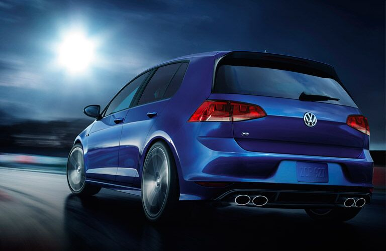 2016 Volkswagen Golf R Four Exhaust Tips
