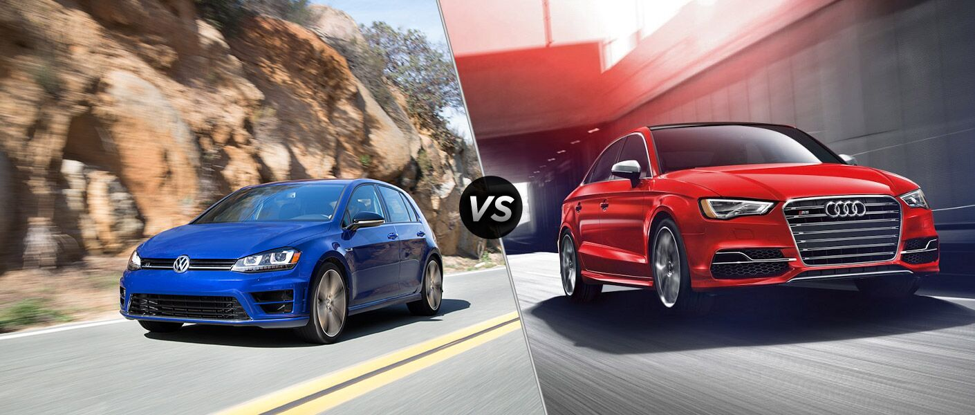 2016 Volkswagen Golf R vs the 2016 Audi S3