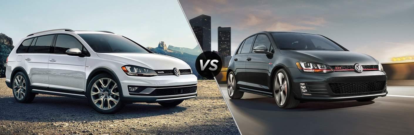 2017 Volkswagen Golf Alltrack vs 2017 Volkswagen Golf GTI