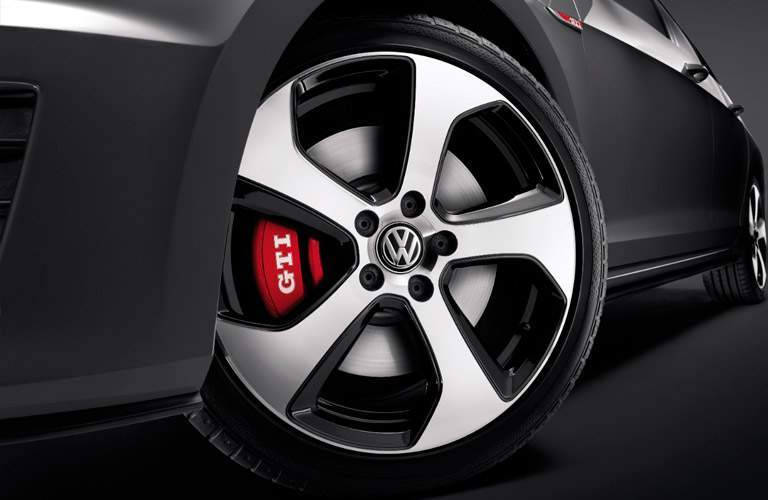 2017 VW Golf GTI Closeup of wheel