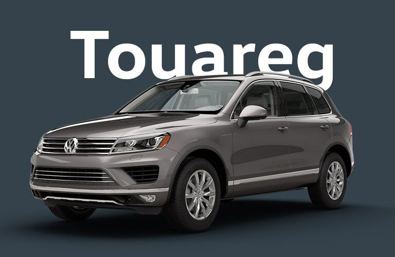 Volkswagen Touareg front and side profile