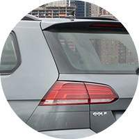 gray 2018 VW Golf SportWagen taillight closeup