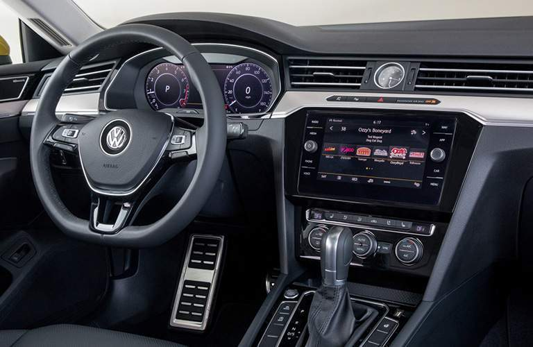 2019 VW Arteon interior steering wheel and dashboard