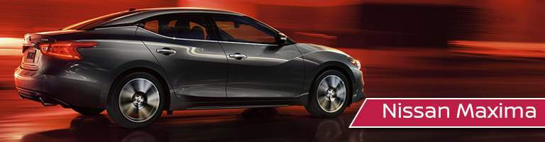 black Nissan Maxima side view