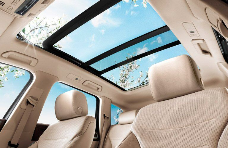 Sliding sun roof in 2017 Volkswagen Touareg