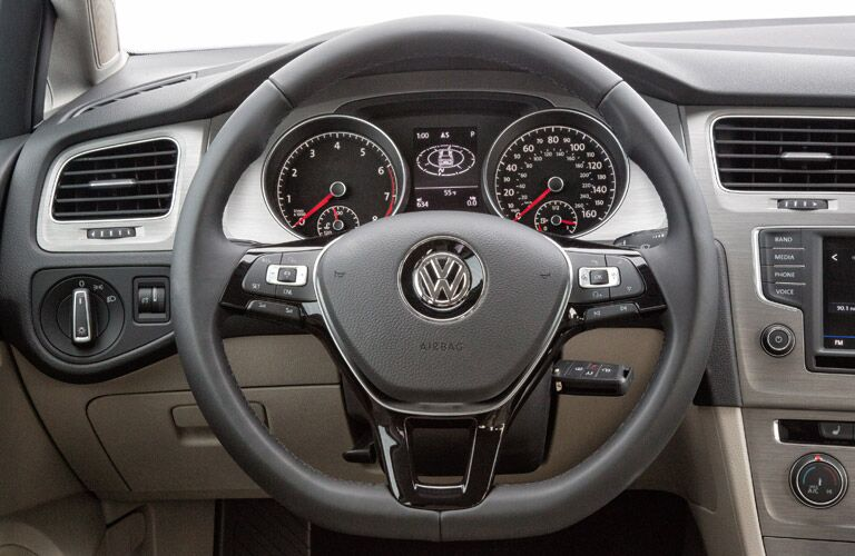 2017 VW Golf Sportwagen interior cabin