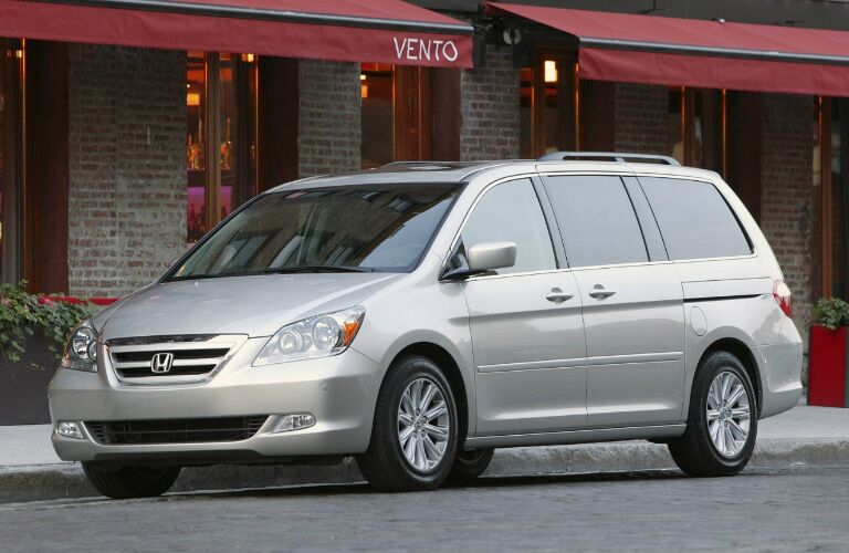 2008 Honda Odyssey minivan parked in city street