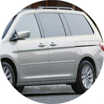 gray 2008 Honda Odyssey side windows