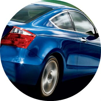 blue 2009 Honda Accord exterior rear