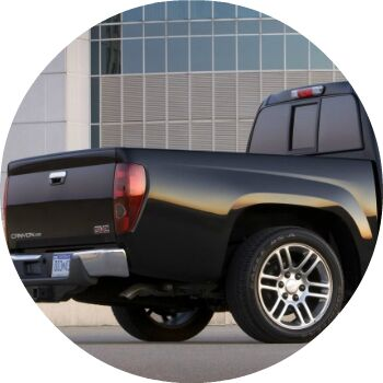 black 2010 GMC Canyon pickup bed