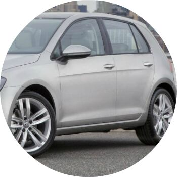 silver 2012 VW Golf side