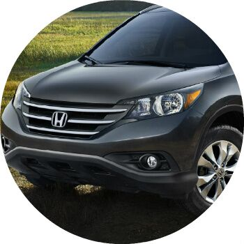 2013 Honda CR-V exterior front grille and headlights