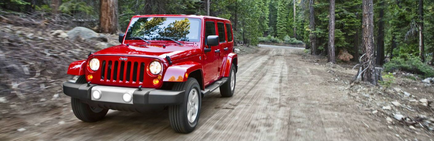 The Jeep Wrangler Unlimited can go on off-road adventures.