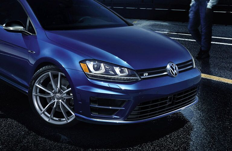 Blue 2017 Volkswagen Golf R Front Exterior and Grille