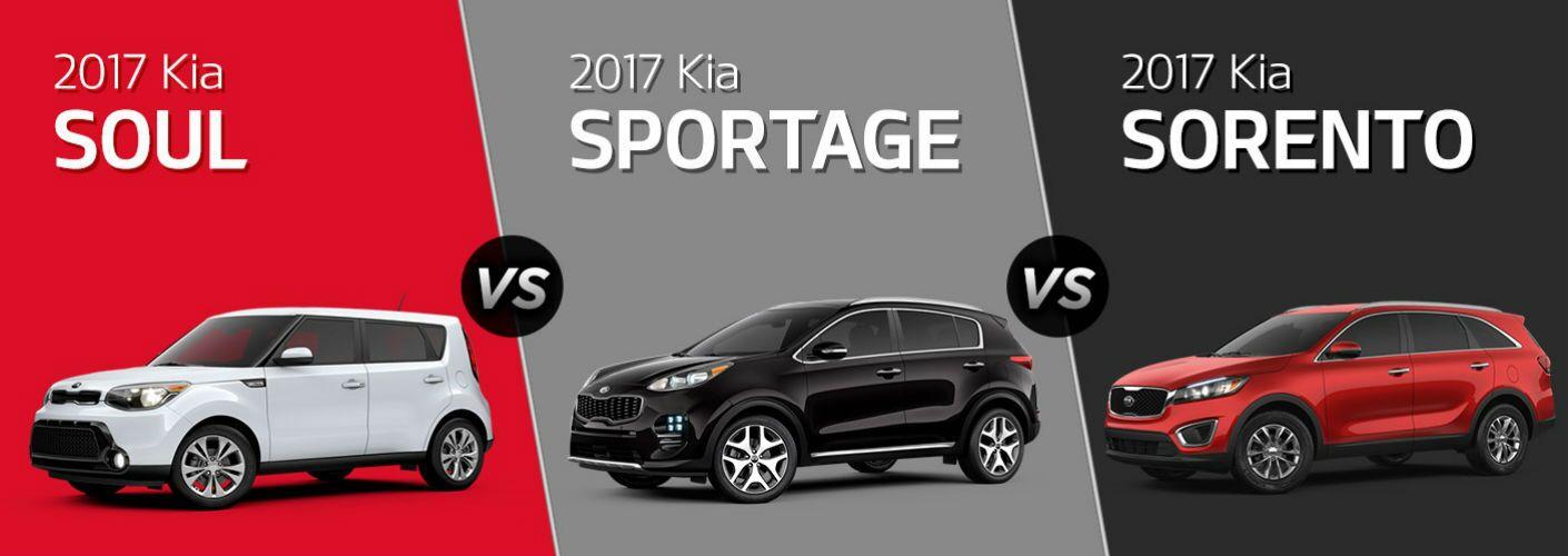 2017 Kia Soul vs. 2017 Kia Sportage vs. 2017 Kia Sorento
